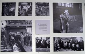 En stor del av utställningen är gamla bilder från verksamheten.