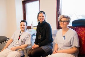 Juan Carlos Canive Gomes, läkare, Ingrid Grundahl, vårdenhetschef och Anna Selander, sjuksköterska, tycker alla att systemet har funkat bra.