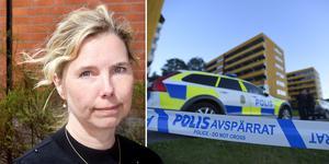 Åklagaren Karin Everitt har nu släppt alla misstänkta efter skottlossningen i Kramfors på fri fot. Bilder: Filip Gustafsson Högman och Erik Mårtensson