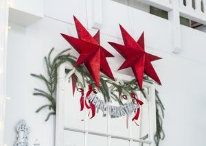 Alla julstjärnor behöver inte ha belysning. Foto: Lennye Osbeck