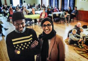 Abdiwahab Ali och Elham Ahmed har skapat en multikulturell mötesplats med Jalla Café.