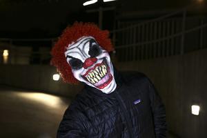 Under helgen kom det in flera samtal till polisen om människor som klätt ut sig till clowner. På fredagen blev en 15-årig flicka, som var ute och red på Lugnet i Falun, jagade av två personer som var utklädda till clowner.