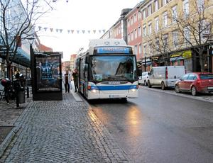 Miljöpartiet hyllar busschaufförer.Foto: VLT:s arkiv
