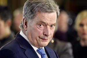 Sauli Niinistö sitter kvar som president i Finland sex år till.Foto:  Jussi Nukari/AP
