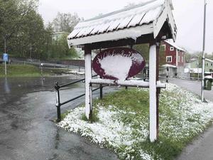 Nere i Åre by såg det ut så här på onsdagsmorgonen 29 maj.