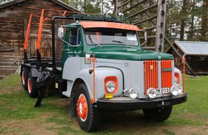 En gammal Scania från 1972 näst intill i nyskick.