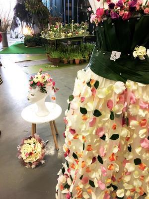 Irene valde att göra en romantisk klänning.
