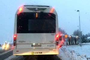 Även på torsdagen uppstod problem i trafiken för bussarna på Alnön.