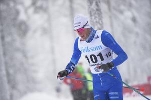 Daniel Richardsson i klubbdressen under SM-veckan vintras i Sundsvall.