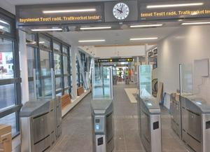 Snart öppnar pendeltågsstationen i Vega. Foto: Stockholms läns landsting