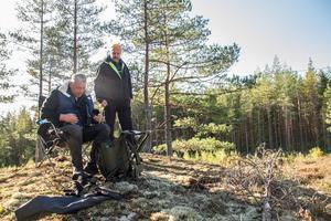 Sven-Olov Backström och Leif Boman från Ludvika.
