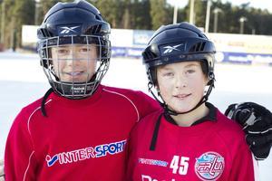 Kip Ribaitis och Jakob Stöffling är nöjda så länge de får stå på isen. Men skulle hellre spela hockey erkänner de.