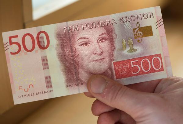 Birgit Nilssons ansikte pryder en av de nya sedlarna från Riksbanken. Ett inte helt okontroversiellt val.Foto: Fredrik Sandberg / TT