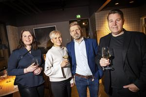 Evelina Hedström, Ingela Normelli, Lars Jönsson och Stefan Larsson var några av de inbjudna gästerna på invigningen.