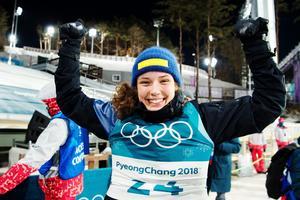 Hanna Öberg vann guld överlägset. Foto: Carl Sandin (Bildbyrån).