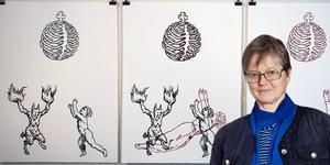 Games of the Abyss, en serie tuschteckningar av Johan Urban Bergquist.  Abyss betyder avgrund, bottenlöst djup eller bråddjup på svenska.  Krönika om konstscenen i Bollnäs av Christina Busck.