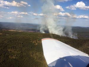 Under den stora skogsbranden vid Jerkerbodsberget mellan Järna och Leksand blev Västerdalarnas flygklubbs piloter anlitade för att hålla bevakning från luftrummet. FOTO: SOFIA JONSSON