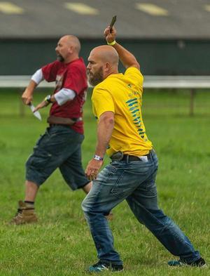 Marcus Pehart kastade okej i kvalet. Men fick aldrig reda på var han skulle placerat sig, då han missade finalen. Foto: Privat.