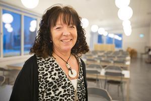 Marianne Karlsson, förskolechef på Fjällbackens förskola i Undersåker. Här i Stamgärde skolas matsal som ligger ovanpå förskoleverksamheten.