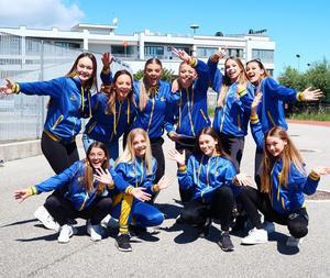 Framgångarna blev många i EM i Rimini för Malins dansstudios tävlingsdansare. Foto: Victoria Carlsson