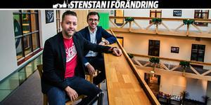 Andreas Hjorth (längst fram) och Fredrik Hammargården har båda en lång bakgrund inom digitalisering av fysisk handel. Nu jobbar de på en lösning med artificiell intelligens som de själva tror blir