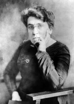 Emma Goldman 1911. Foto: T. Kajiwara