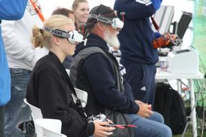 Tävlingen består av åtta heats, här ser ni Anna Karlsson under sitt tredje heat, fullt fokuserad.
