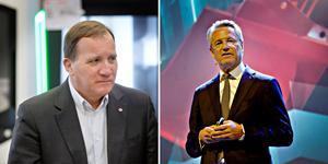Stefan Löfven har inget emot att utöka gruppen med flera svenska företag. Men än så länge ställer sig Sandvik utanför.