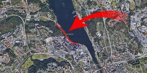 Vägen Snäckvikshamnen stängs tillfälligt. Foto: Google maps