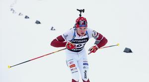 Malte Stefansson ledde söndagens lopp från start och nästan hela vägen in i mål.