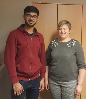 Faraz Bajwa och Karin Jakobsson är adminstratörskollegor för Reko-ring.