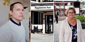 Lena Asplund (M) poängterar att inga beslut om neddragningar ännu är fattade av politkerna, medan Mattias Rösberg (SJVP) tror att det även kommer att komma ett oundvikligt förslag om en skattehöjning.
