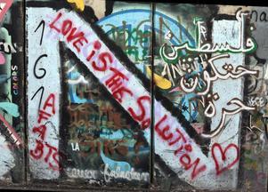 Muren som delar Israel och Palestina.