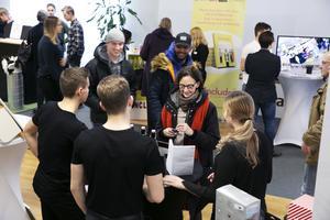 Allmänheten fick möjlighet att träffa UF-företagen i Leksand.