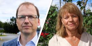 Björn Hammarberg (M) och Karin Jonsson (C).