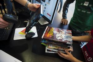 Befolkningen i Åsele lånar 12,4 böcker per invånare och år _ högst siffra i landet. Arkivbild. Foto: Vilhelm Stokstad/TT
