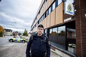 Daniel Hägglund, tillförordnad gruppchef på polisen i Örnsköldsvik.