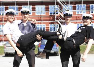 Johan Hellström, Felix Forsberg, Måns Olsson och David Moberg.