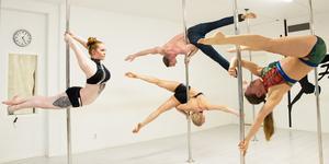 Jenny Gehrke, vänster. David Vigren, övre mitten. Danielle Ydstål, undre mitten. Christel Wallin, höger.