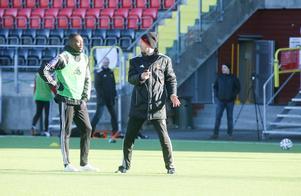 Grace Tanda, här med Graham Potter, under tiden i Östersunds FK.