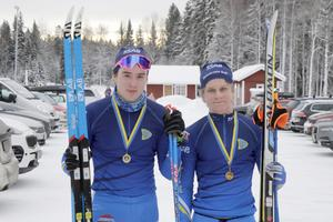Johan Nordahl och Albin Berger kommer norrifrån och tävlar för Domarvet. De blev etta respektive tvåa i juniorklassen.