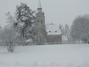 12 april kom vintern tillbaka. Bild från Söderala.