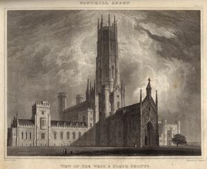 William Beckfords Fonthill Abbey illustrerat av T. Higham och Z. Martin 1823.