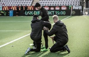 Martin Lorentzson har en känning i höften och missar söndagens match i Svenska cupen.