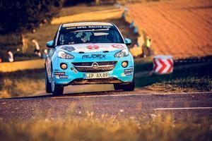 Elias Lundberg säkrar titeln i ADAC Opel Rallye Cup med en seger – eller vid ett antal andra scenarion. Foto: Sascha Dörrenbächer