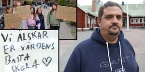 Genom Henrik Anderson meddelar nu Idkerbergets skolas föräldraförening att de ger upp kampen om skolans överlevnad.  Foto: Kajsa Thorp Backlund och Martin Lindström