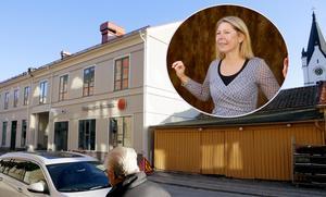 """Sparkbanken flyttade in i nya lokaler tvärs över gatan. """"Vi ska väl tro att vi ska vara här också i minst 121 år"""" sa Cecilia Jeffner, bankens vd, vid invigningen i början av november."""