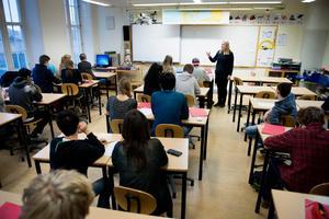 Ett aktivt och fritt skolval motverkar segregation. Innan det fria skolvalet infördes placerades eleverna i närmaste skola, skriver Robert Beronius, Bino Drummond, Anders Olander och Göte Vaara. Foto: Jessica Gow, TT.