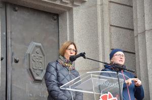 Sundsvallspolitikern Bodil Hansson (S) hyllade Härnösand i sitt förstamajtal.