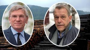Sågverket Bergkvist-Insjön byter vd. Vid årsskiftet lämnar Peter Eklund (till vänster) posten efter att ha varit vd sedan 2003. Han ersätts av Anders Nilsson (till höger).Foto: Jan Svensson och privat